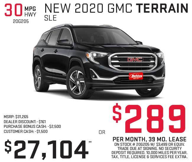 Lease a new GMC Terrain for as low as $289 per month