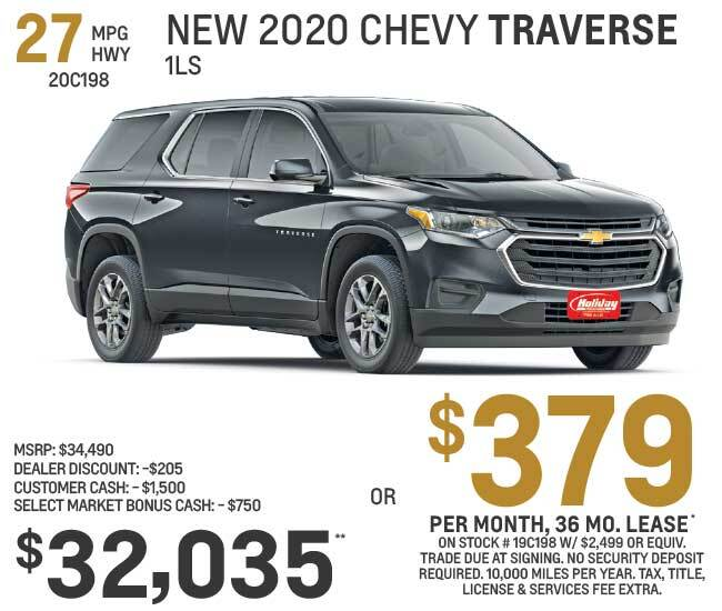 Lease a new Chevy Traverse for as low as $379 per month