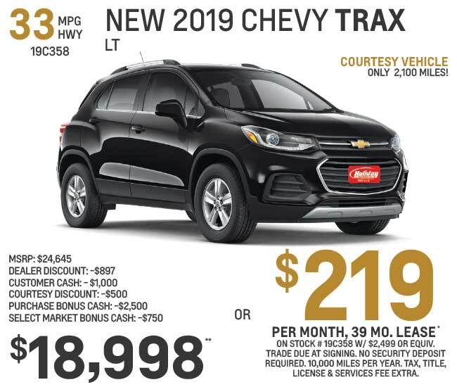 Lease a new Chevy Trax for as low as $219 per month