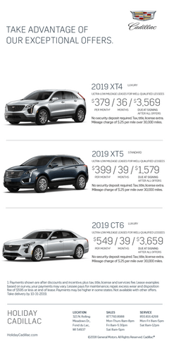 Exceptional Offers on Cadillac at Holiday Automotive in Fond du Lac