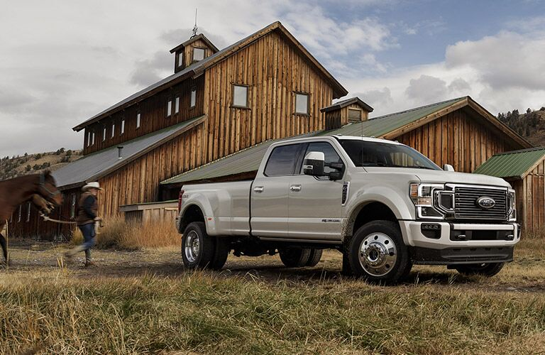 2020 Ford F-250 white side view
