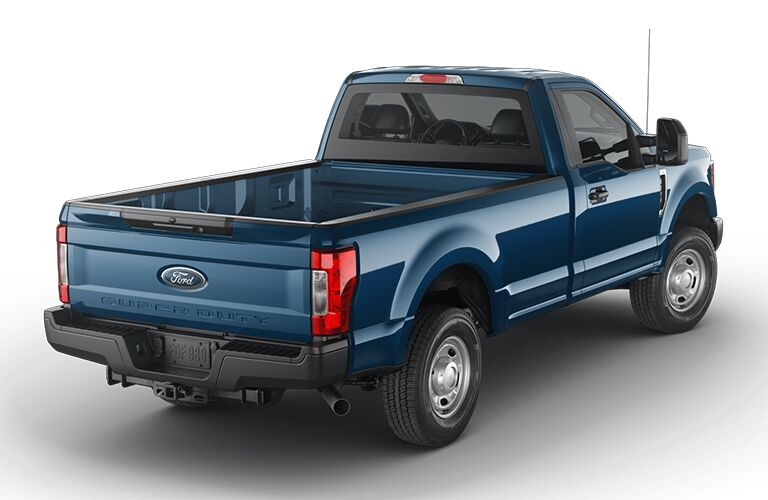 2019 Ford F-350 blue from the back right