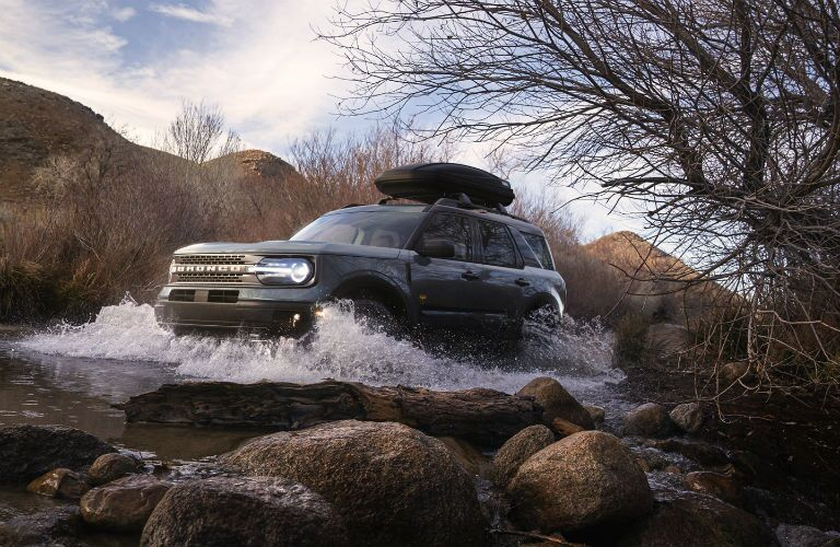 2021 Ford Bronco Sport Exterior Driver Side Front Profile in Water