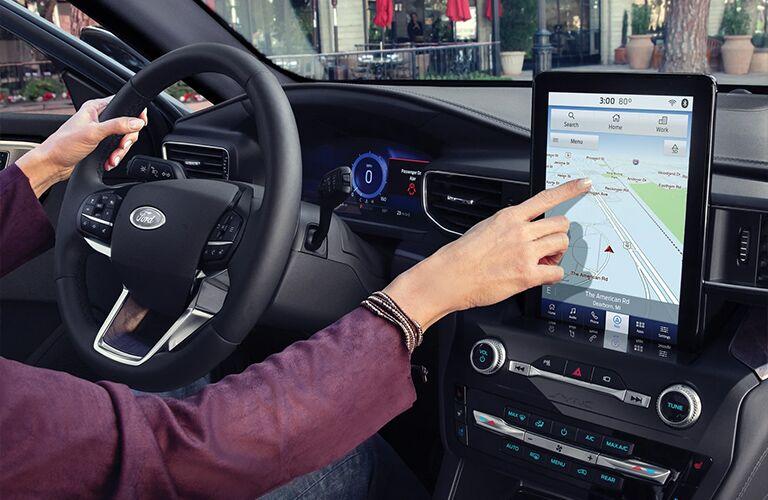 media screen in the 2021 Ford Explorer