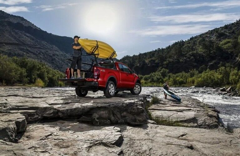 2021 Ford Ranger parked on a rocky field