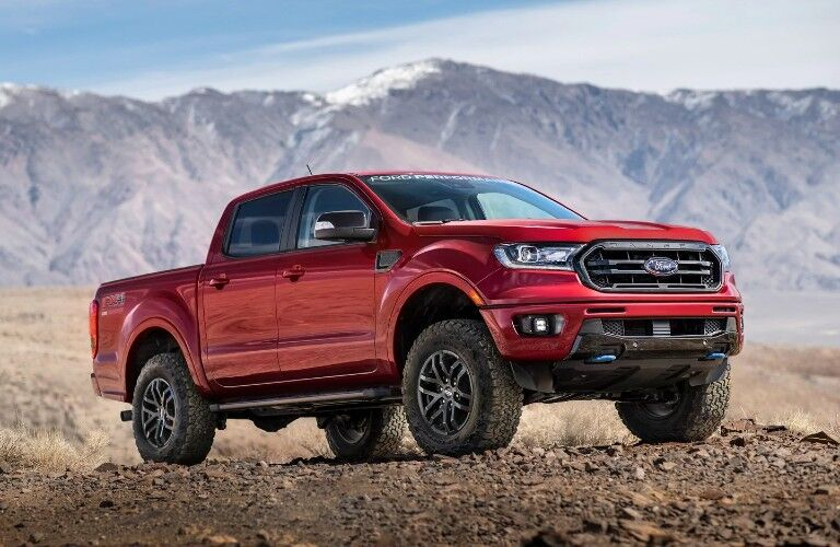 2021 Ford Ranger parked off-road