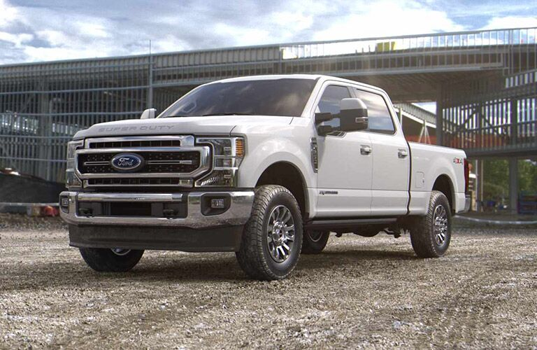 2021 Ford F-350 Super Duty parked on gravel