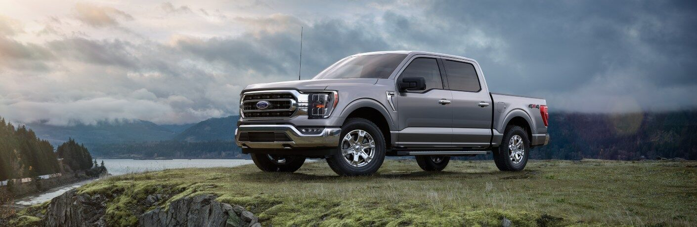 2021 Ford F-150 silver side view