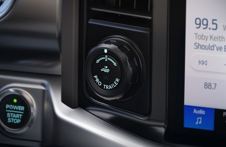 Closeup of details in 2022 Ford F-150 Lightning