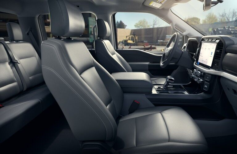 Interior view of 2022 Ford F-150 Lightning