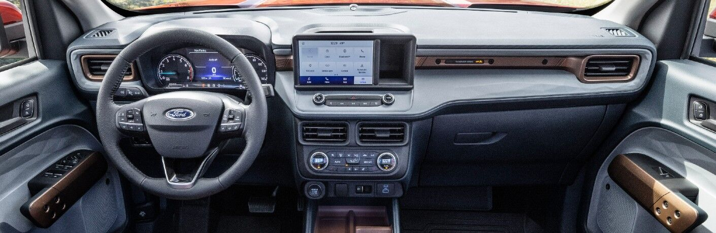 The dashboard in the 2022 Ford Maverick.