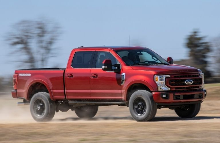 2022 Ford Super Duty of red color