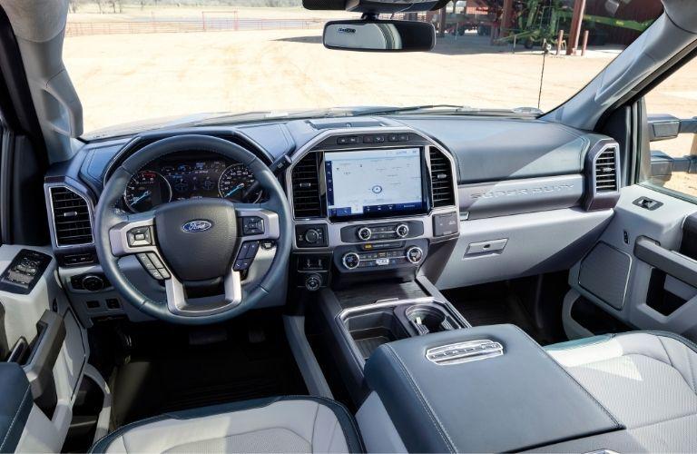 Interior of 2022 Ford Super Duty