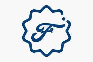 A stylized blue F icon