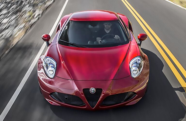 2018 Alfa Romeo 4C driving on the highway