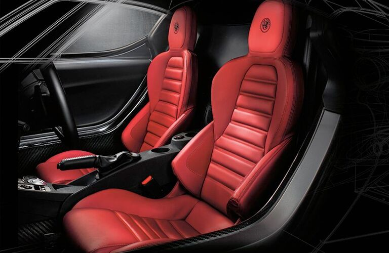 Front seats of the 2018 Alfa Romeo 4C