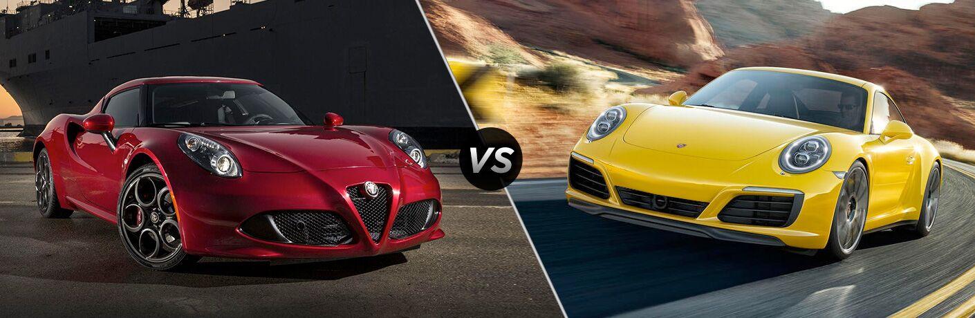 2018 Alfa Romeo 4C vs. 2018 Porsche 911 Carrera