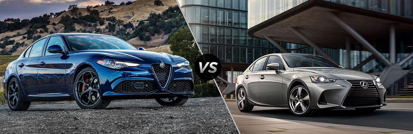 2018 Alfa Romeo Giulia vs. 2018 Lexus IS