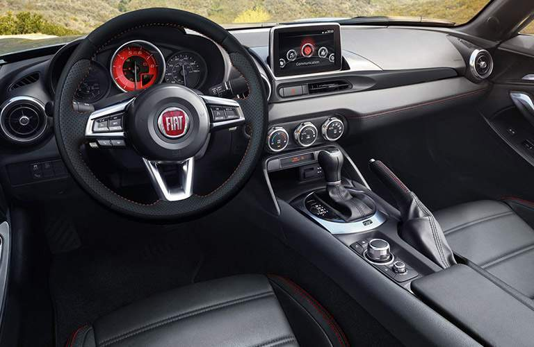 Interior view of 2018 Fiat 124 Spider