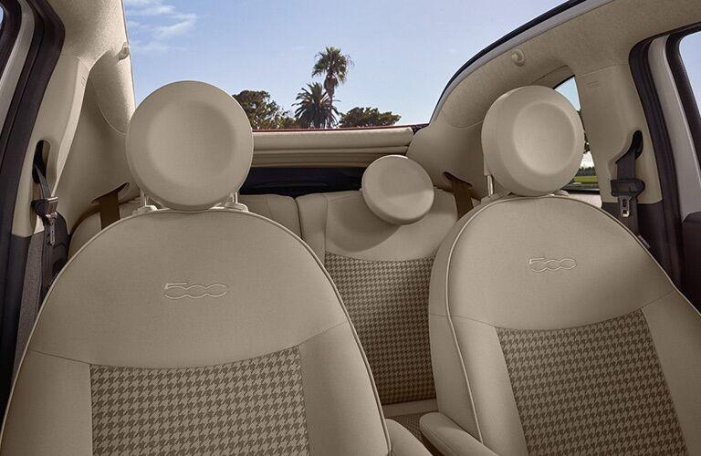 2018 FIAT 500 seats