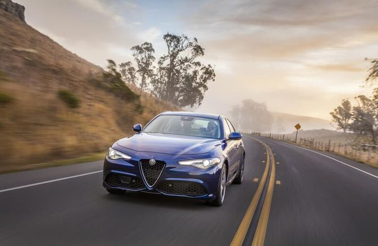 2019 Alfa Romeo Giulia on the road