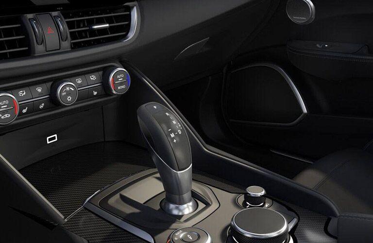 2019 Alfa Romeo Giulia Quadrifoglio Center Console and Shifter
