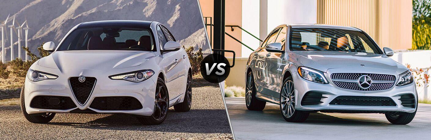 2019 Alfa Romeo Giulia vs. 2019 Mercedes-Benz C 300 Sedan