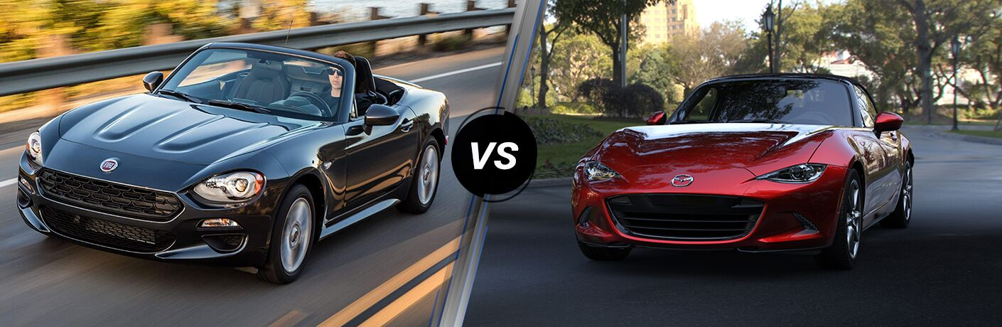 2019 fiat 124 spider vs 2019 mazda mx-5 miata