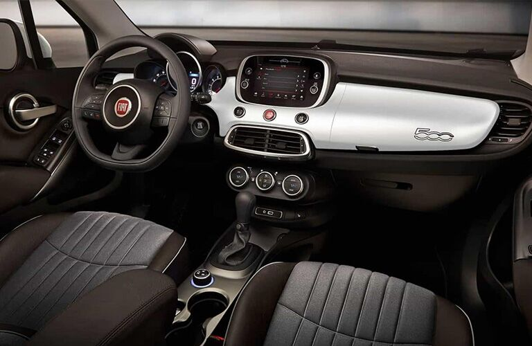 2019 FIAT 500X seating and steering wheel