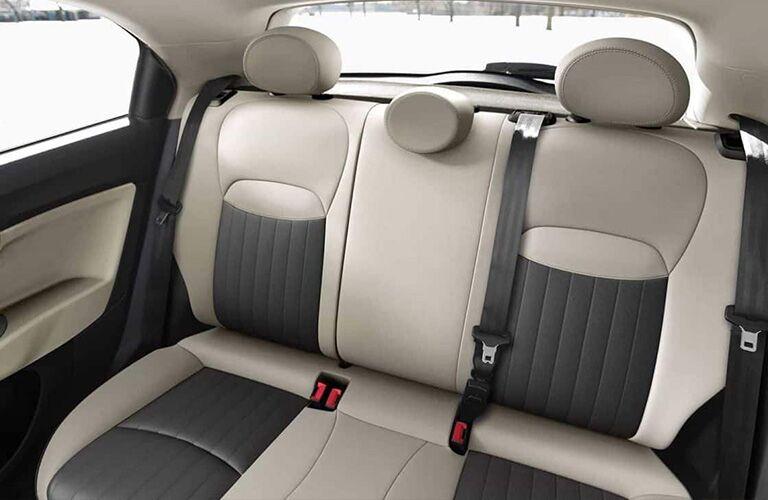 2019 FIAT 500X back seats