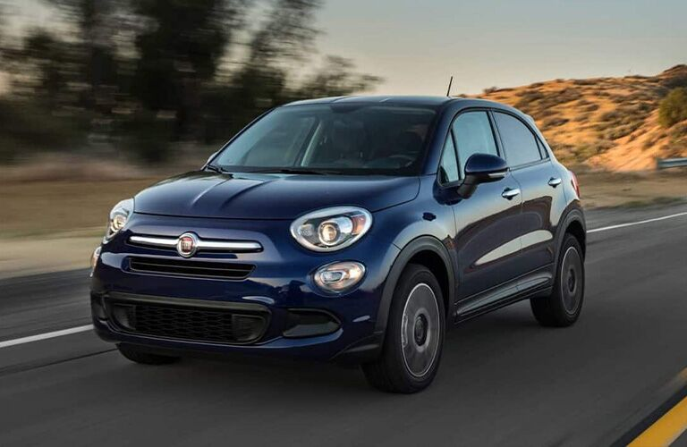2019 FIAT 500X on the road