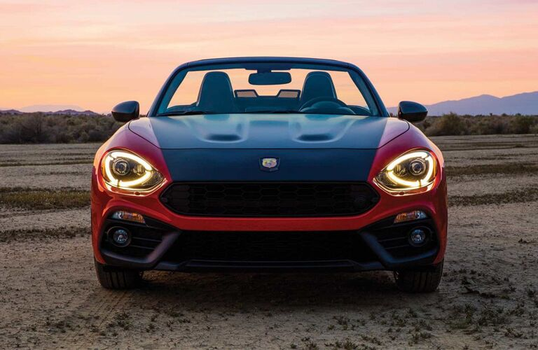 front view of red and black 2019 fiat 124 spider