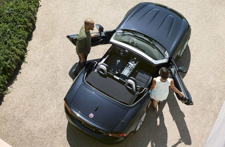 2019 FIAT 124 Spider view from above