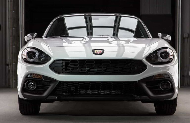 front view of white 2019 fiat 124 spider abarth