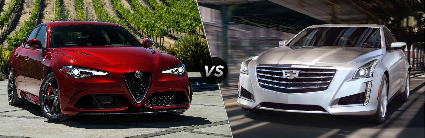 2019 Alfa Romeo Giulia Quadrifoglio vs 2019 Cadillac CTS V-Sport Premium Luxury