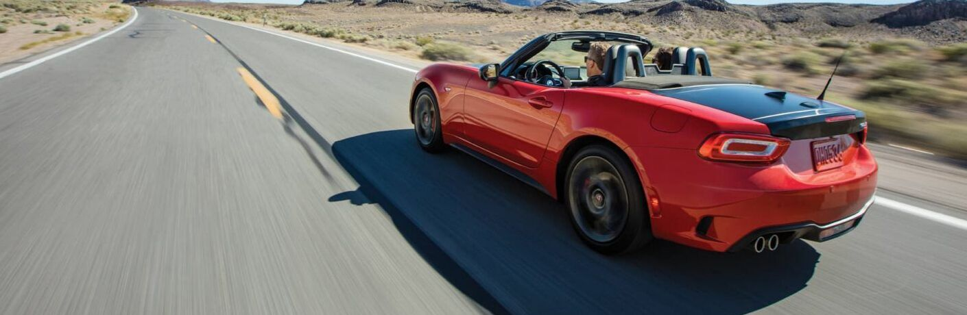 2019 FIAT 124 Spider convertible on the road