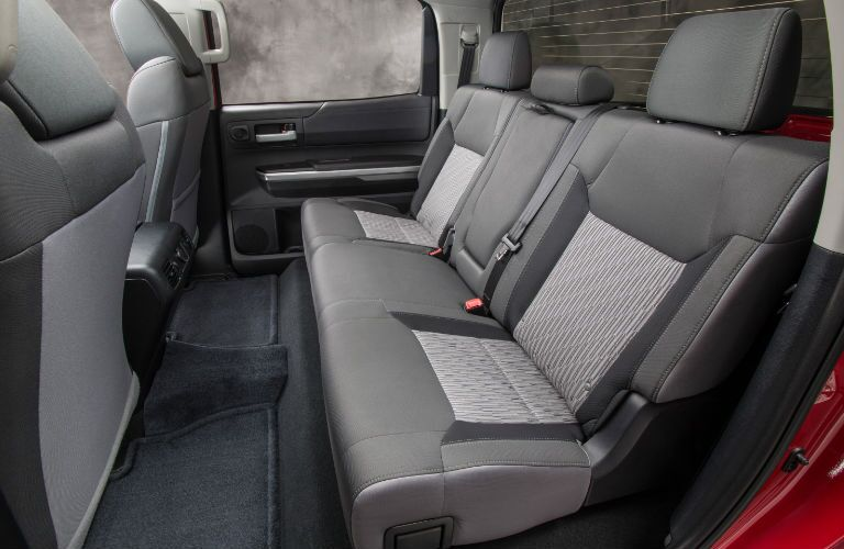 Rear seat in 2016 Toyota Tundra