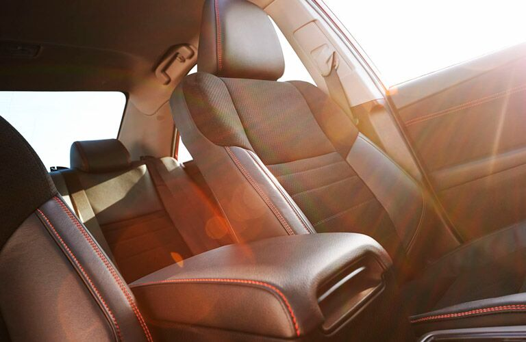 2017 Toyota Camry black seats with red stitching