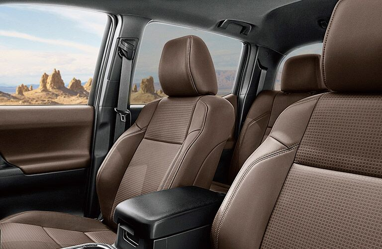 2017 Toyota Tacoma Interior View of Seating in Tan