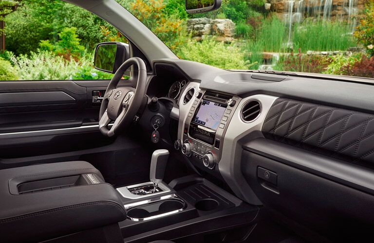 Interior of 2017 Toyota Tundra in Black