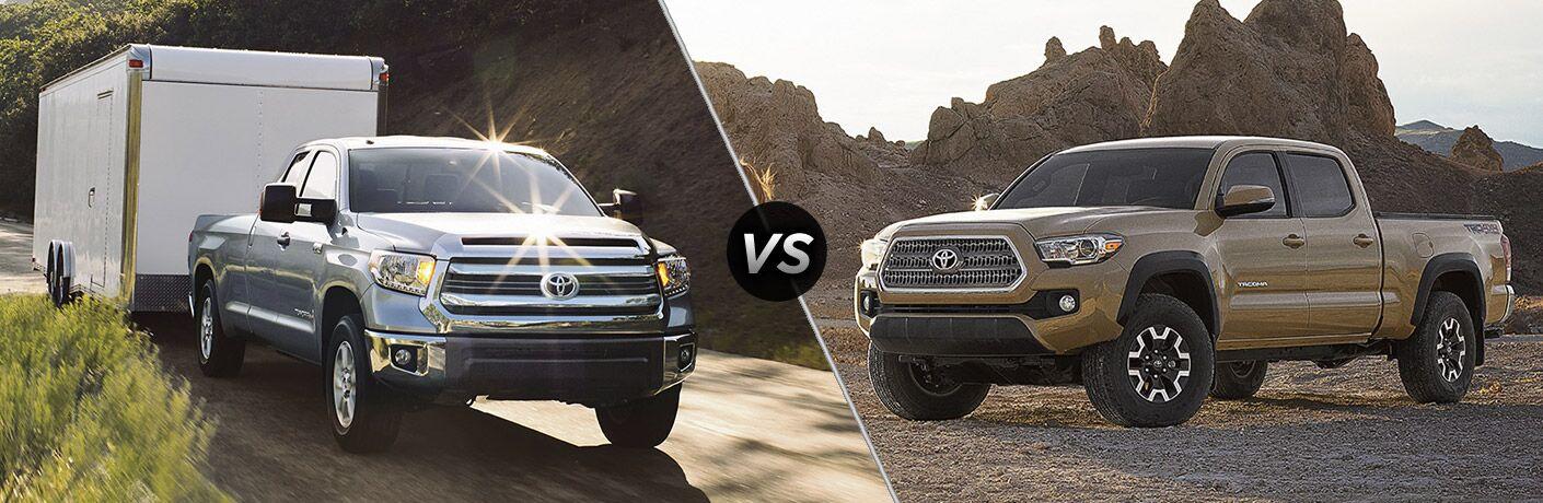 2017 Toyota Tundra vs 2017 Toyota Tacoma