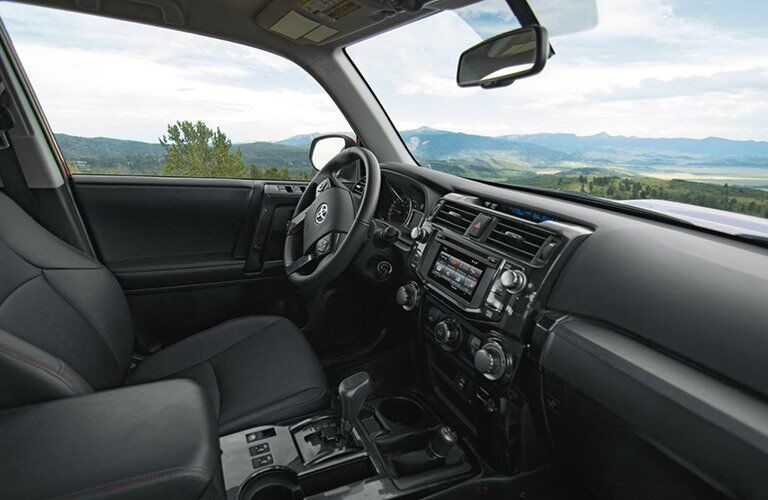 Interior View of the 2017 Toyota 4Runner in Black