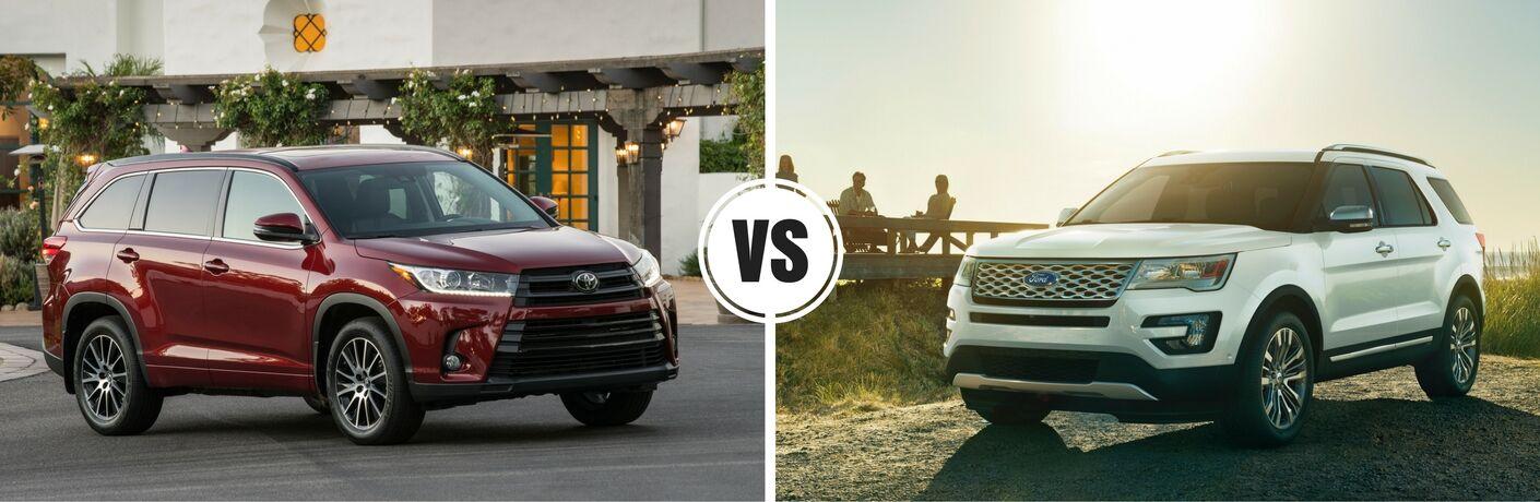 2017 Toyota Highlander vs 2017 Ford Explorer