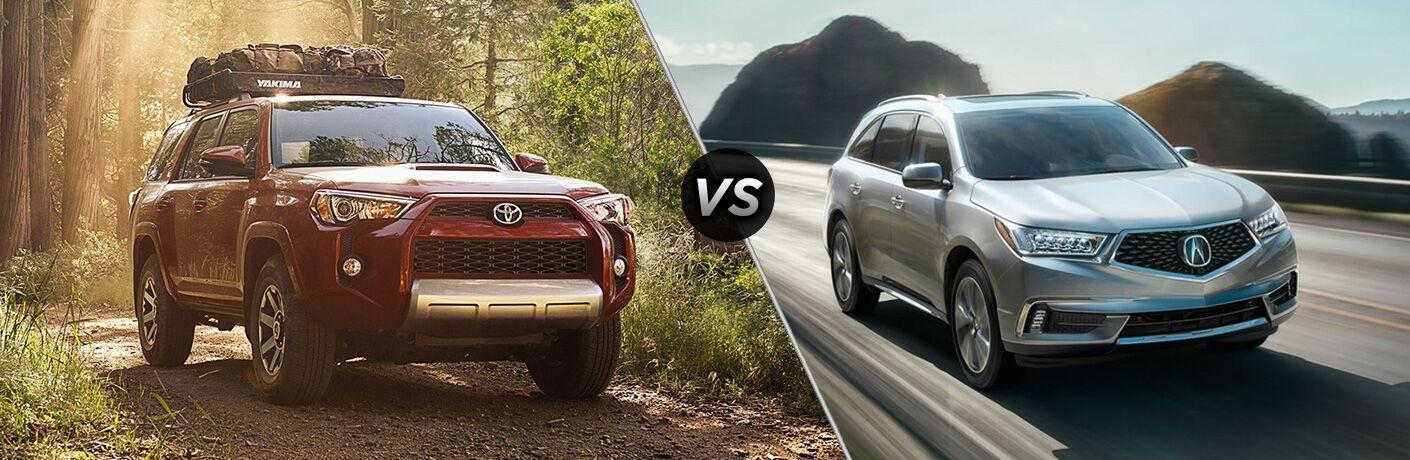 2018 Toyota 4Runner vs 2018 Acura MDX