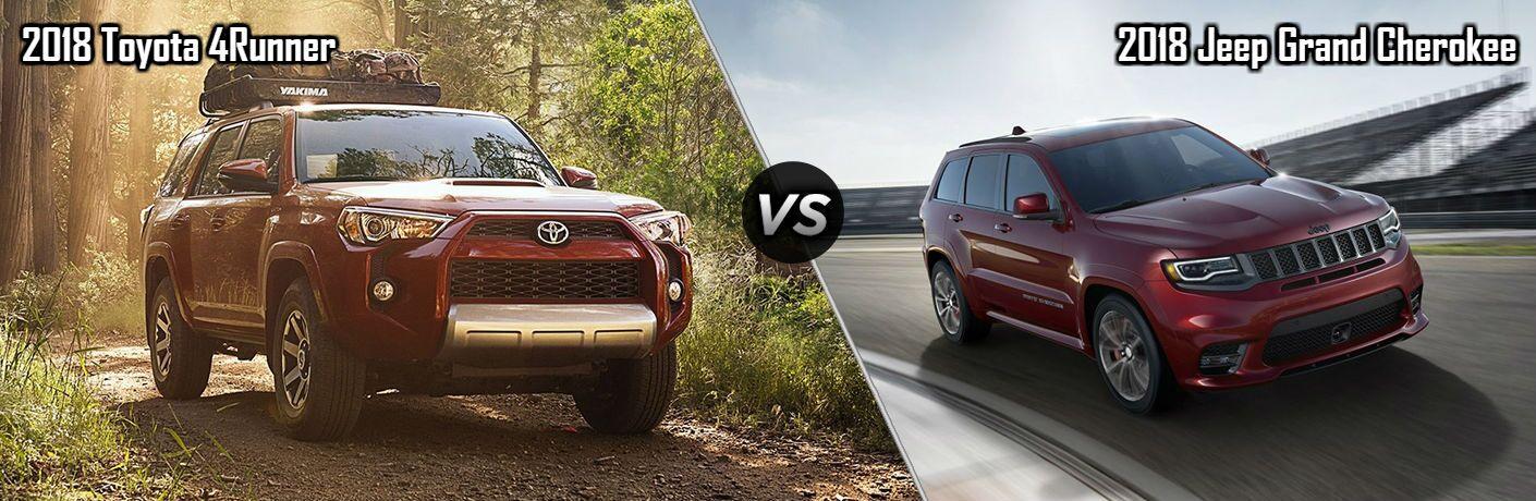 2018 Toyota 4Runner vs 2018 Jeep Grand Cherokee