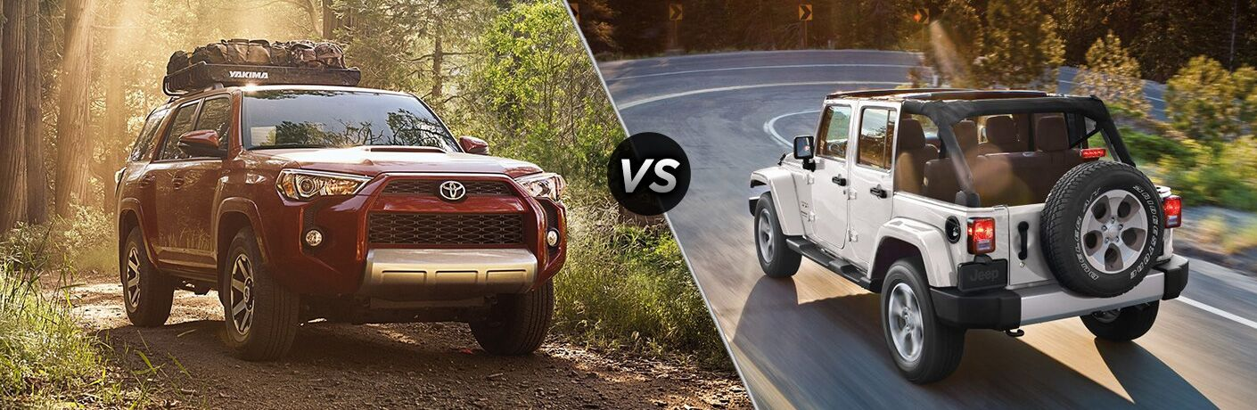 2018 Toyota 4Runner vs 2018 Jeep Wrangler