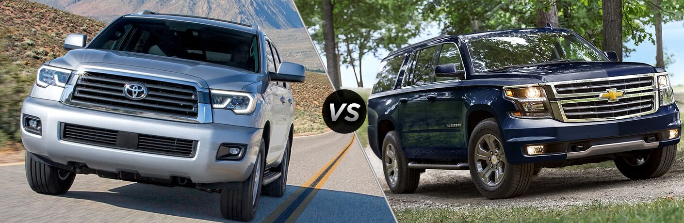 2018 Toyota Sequoia vs 2018 Chevy Suburban