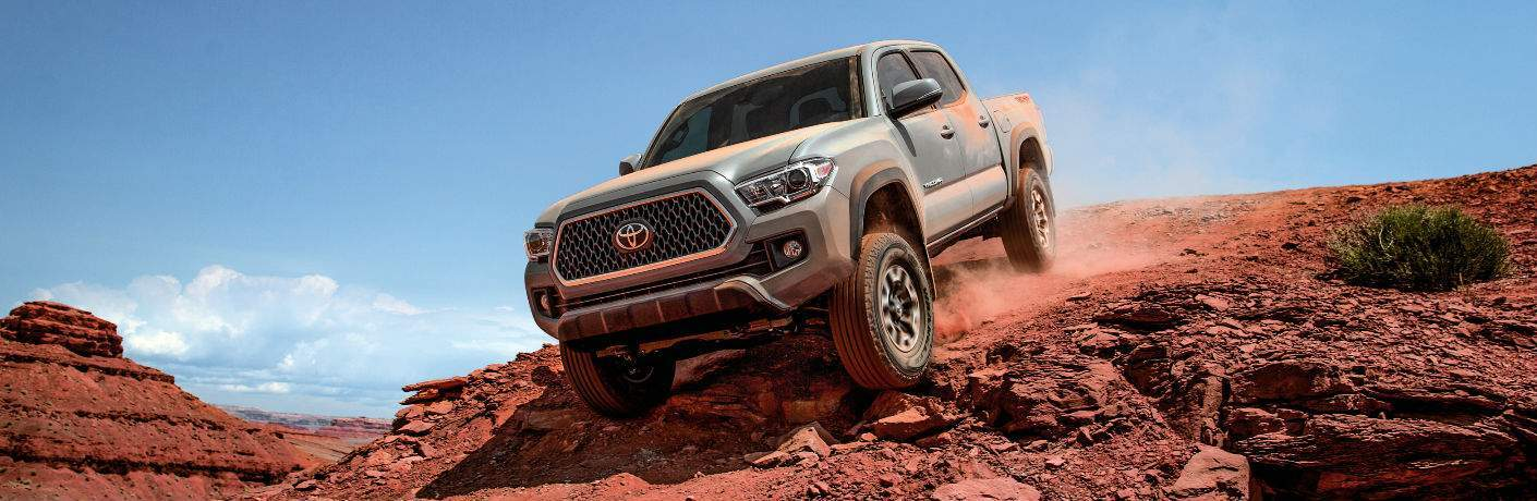 2018 Toyota Tacoma Front End and Side View in Gray
