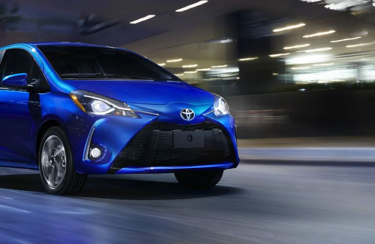 2018 Toyota Yaris Front End View in Blue