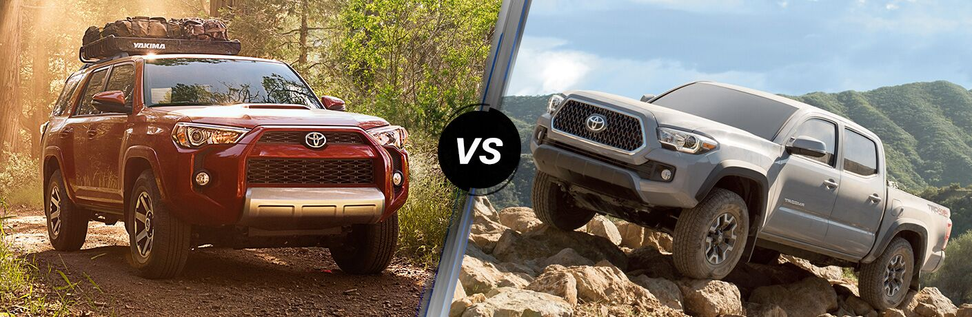 2019 Toyota 4Runner vs Tacoma